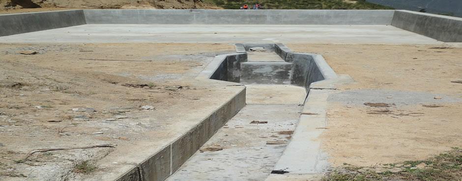 Construcción de reservorios